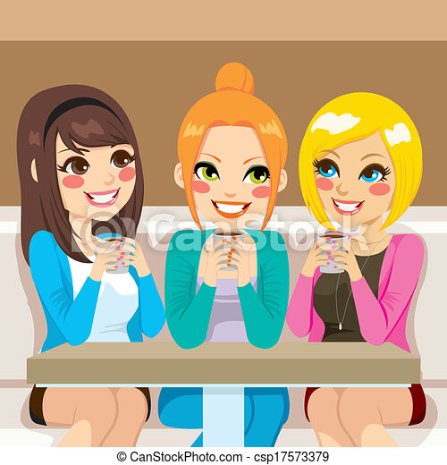 Women Talking At Coffee Shop - csp17573379