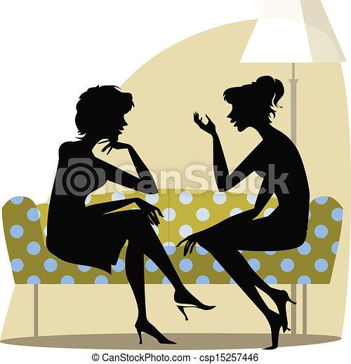 Women talking - csp15257446