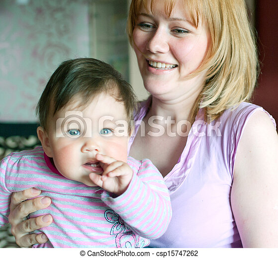 women with a little child - csp15747262