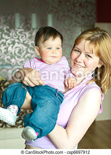 women with a little child - csp6697912