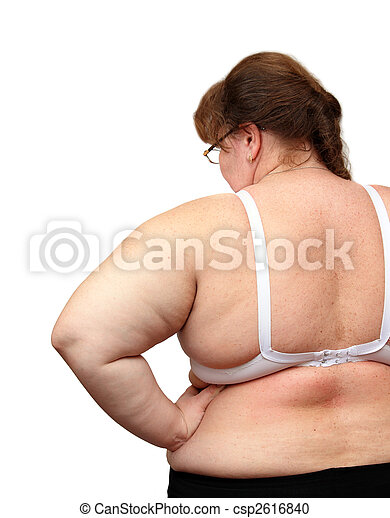 women with overweight from behind - csp2616840