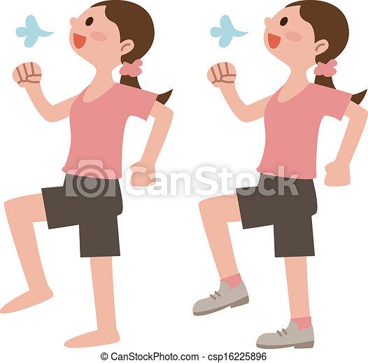 Women with walkers  - csp16225896