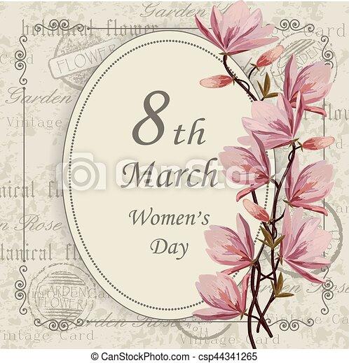 womens, card., augurio, giorno - csp44341265