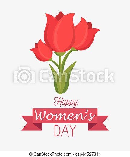 Tarjeta de día de las mujeres felices - csp44527311