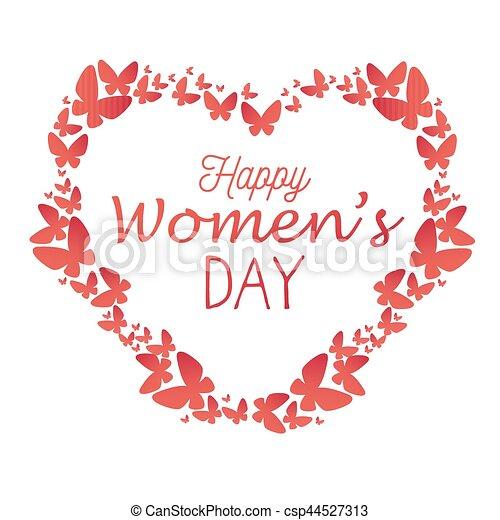 Tarjeta de día de las mujeres felices - csp44527313