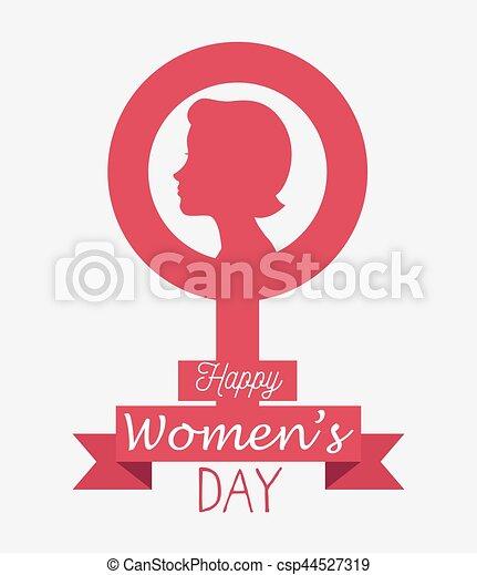 Tarjeta de día de las mujeres felices - csp44527319