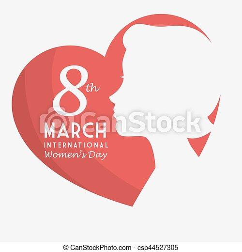 Tarjeta de día de las mujeres felices - csp44527305