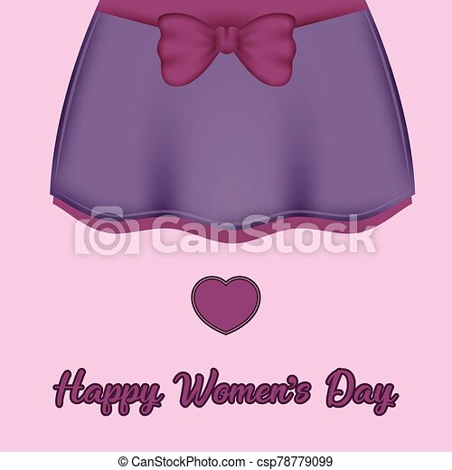 womens, día, tarjeta, feliz - csp78779099