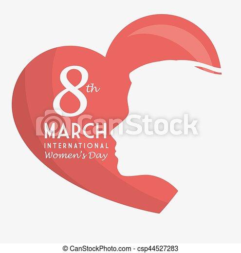 Tarjeta de día de las mujeres felices - csp44527283