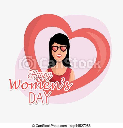 Tarjeta de día de las mujeres felices - csp44527286