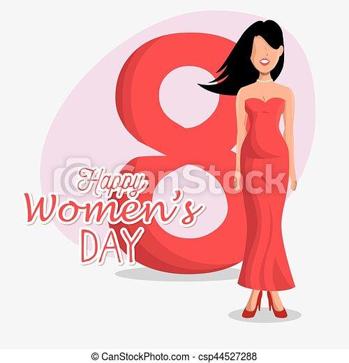 Tarjeta de día de las mujeres felices - csp44527288