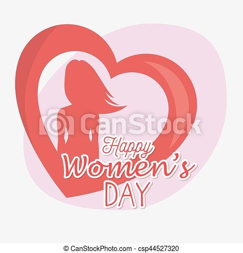 Tarjeta de día de las mujeres felices - csp44527320