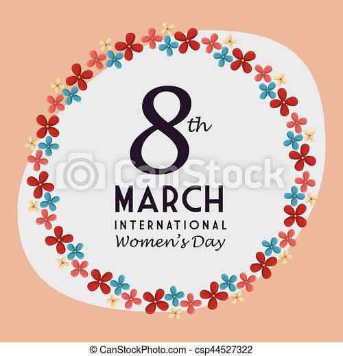 Tarjeta de día de las mujeres felices - csp44527322