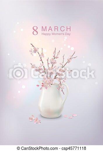 Women's Day Greeting Card - csp45771118