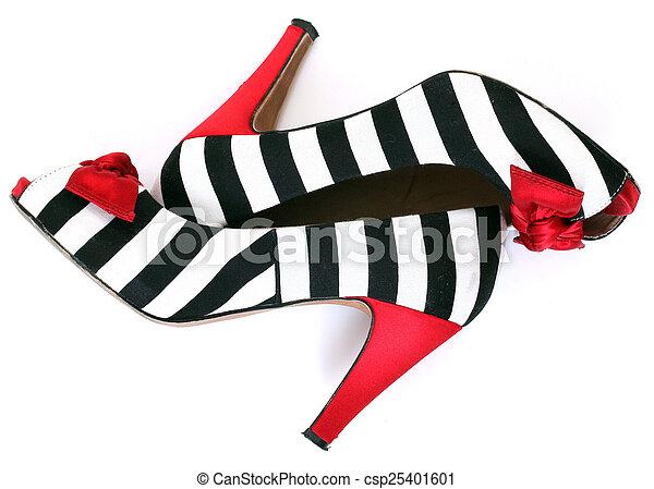 women's fashion shoes. zebra pattern. red heel - csp25401601