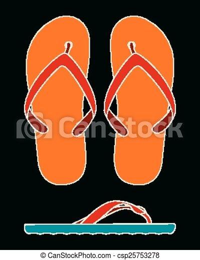 Womens flip-flop collage - csp25753278