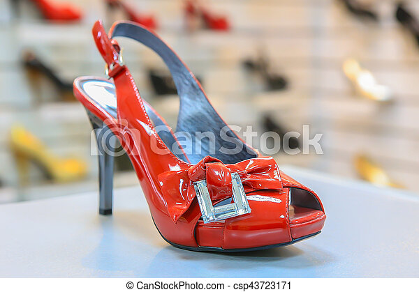 Women's luxury red shoes - csp43723171