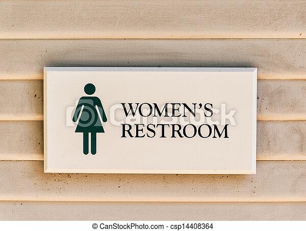 Women's restroom sign - csp14408364