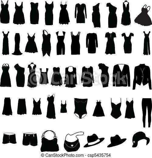 Mujeres misceláneas visten silho - csp5435754