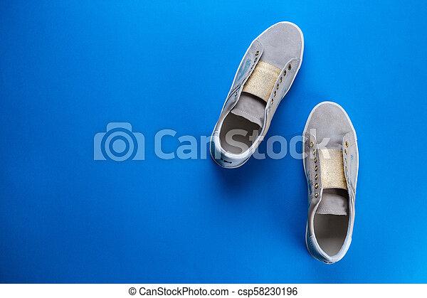 Women's shoes top view - csp58230196