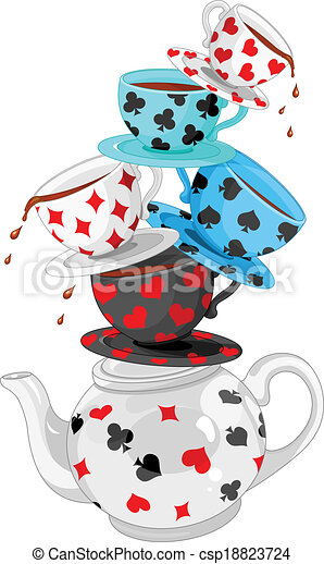 Wonder Tea Party pyramid - csp18823724