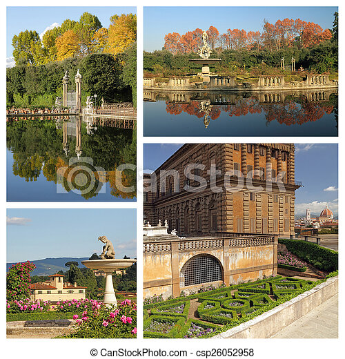 wonderful Boboli Gardens in Florence, Italy - csp26052958