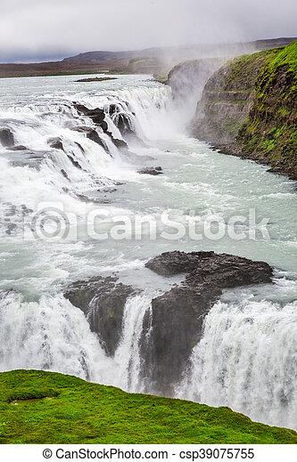 Wonderful Gullfoss waterfall in Iceland - csp39075755
