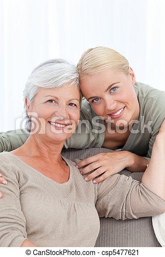Wonderful nurse and her patient - csp5477621