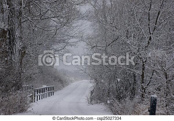 wonderland, inverno - csp25027334