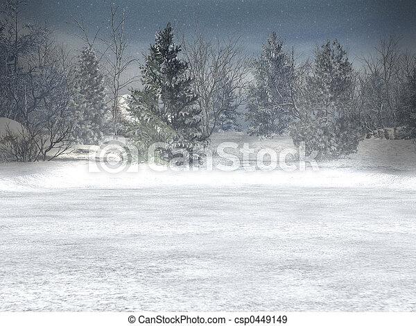 wonderland, inverno, natale - csp0449149