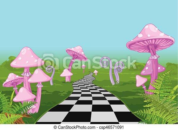 Wonderland Road - csp46571091