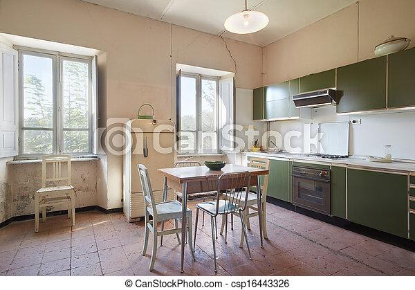 Woning keuken oud land.