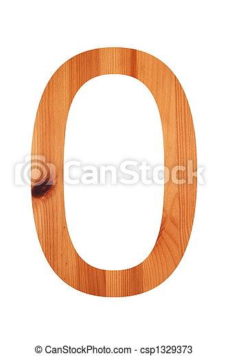 wood alphabet 0 - csp1329373