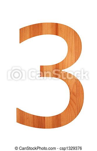 wood alphabet 3 - csp1329376