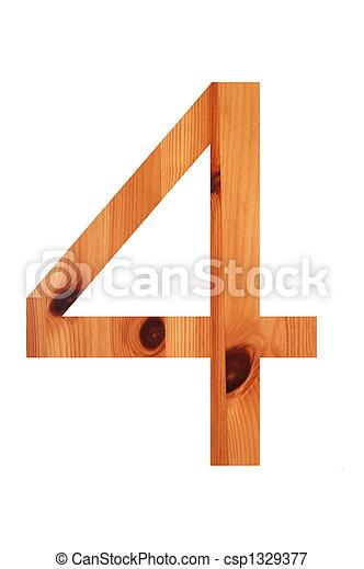 wood alphabet 4 - csp1329377