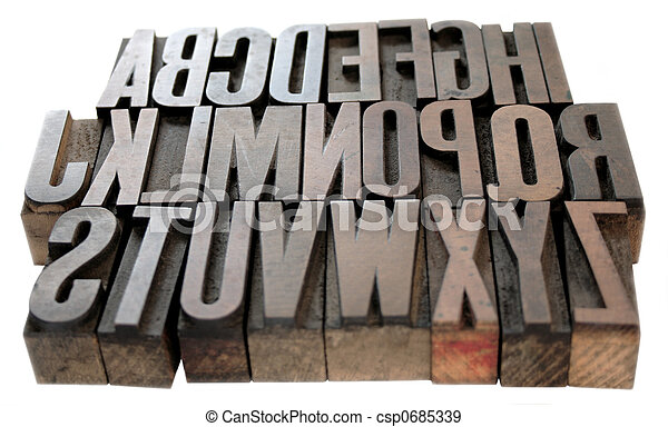 wood alphabet - csp0685339