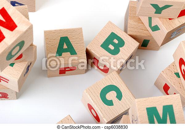 wood alphabet - csp6038830