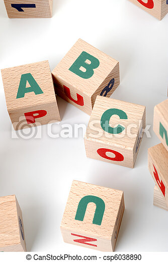 wood alphabet - csp6038890