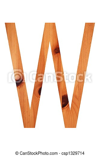 wood alphabet W - csp1329714