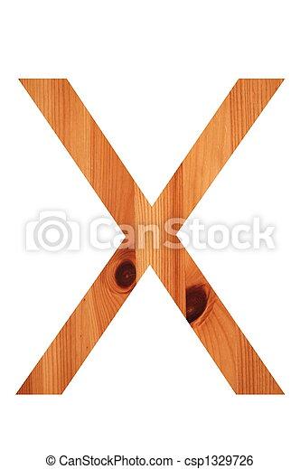 wood alphabet X - csp1329726