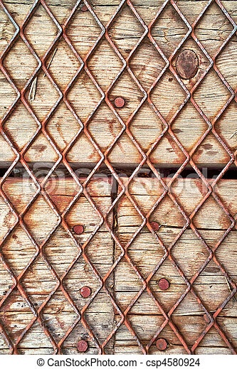 Wood and wire background - csp4580924