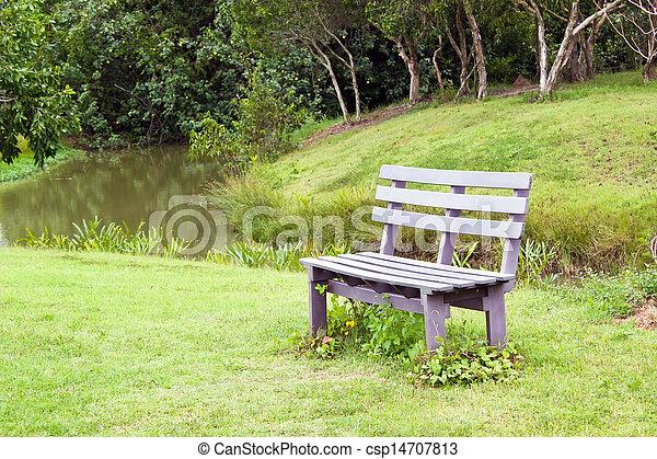 Wood bench - csp14707813