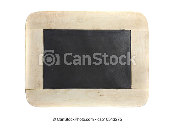Wood blackboard isolated in white background - csp10543275