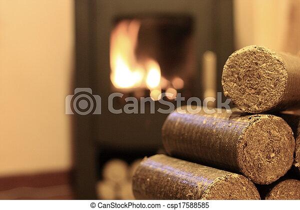 Wood briquettes  - csp17588585