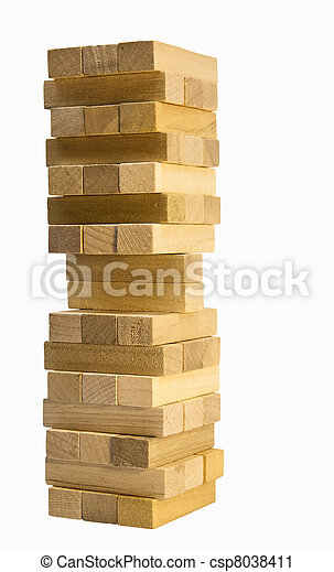 wood building blocks - csp8038411