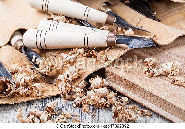 wood carving tools - csp47392392