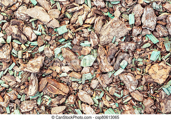 Wood chips texture, abstract close up wooden background. - csp80613065