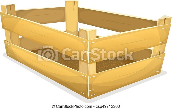 Wood Crate For Grocery