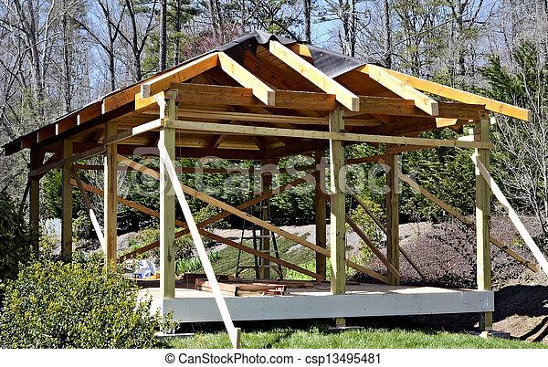 Wood Deck Construction - csp13495481