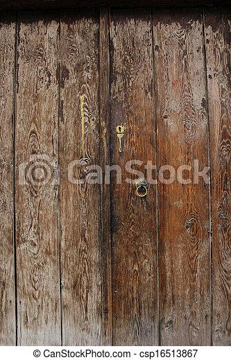Wood door - csp16513867
